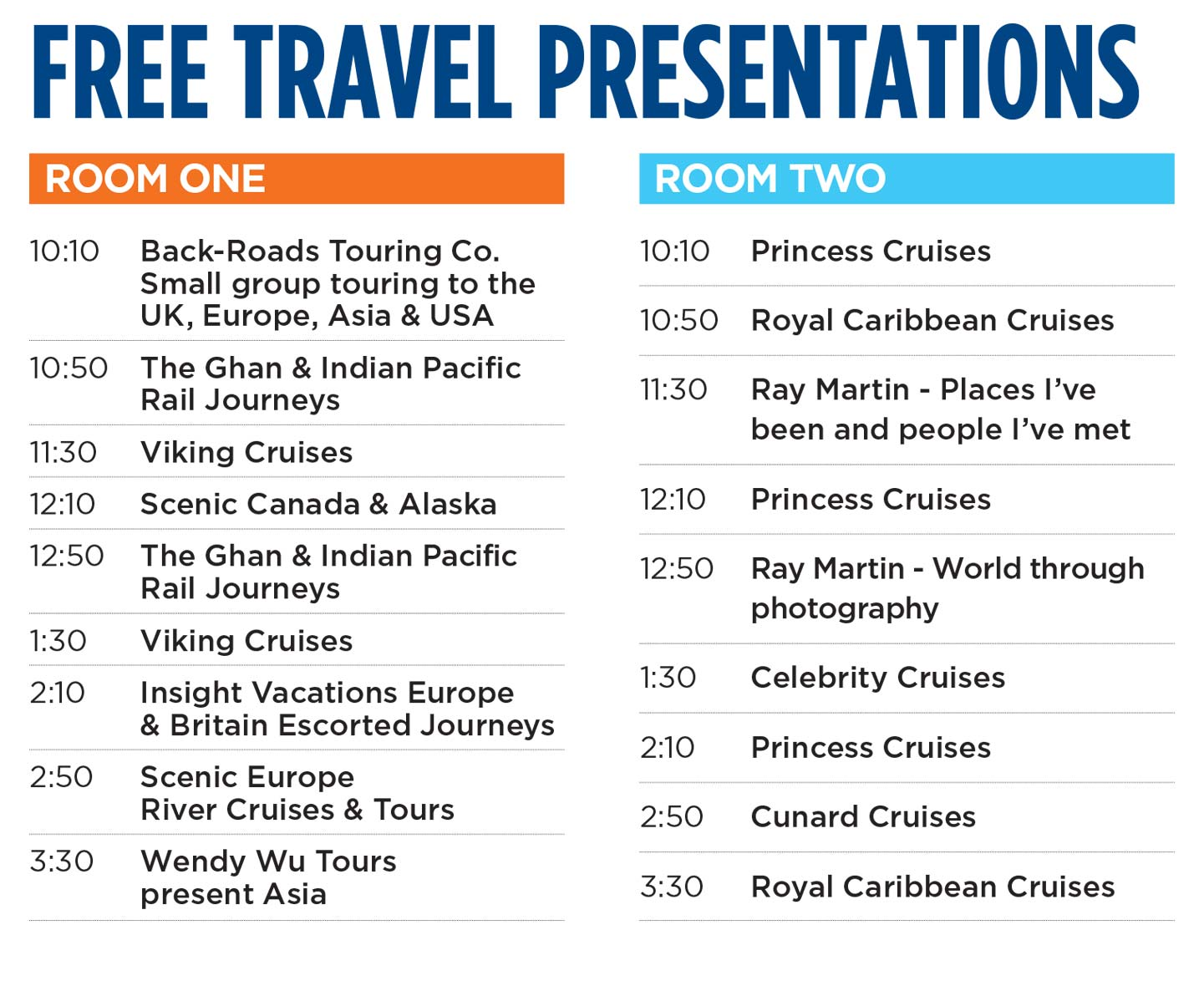 Geelong Travel & Cruise World Expo - Sunday 30th June 2019 - Geelong