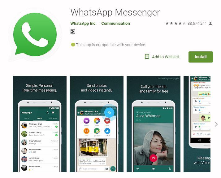 WhatsApp travel app screenshot